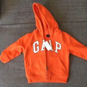 Orange GAP boys hooded sweatshirt